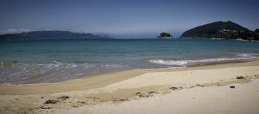 加利西亚海滩的看法 图库摄影