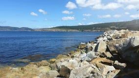 加利西亚西班牙的大西洋海岸 免版税库存图片