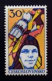 1961年加加林印花税葡萄酒yuri 免版税库存照片