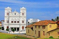 加勒堡垒Meeran Jumma Masjid -斯里兰卡联合国科教文组织世界遗产名录 库存图片
