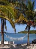加勒比吊床 免版税库存图片