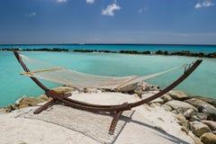 加勒比吊床 免版税库存照片