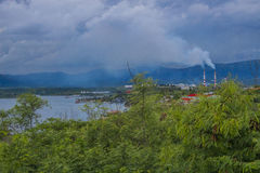 加勒比圣地亚哥的看法在古巴 库存照片