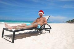 加勒比圣诞老人 免版税库存照片