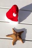 加勒比圣诞节帽子 库存照片