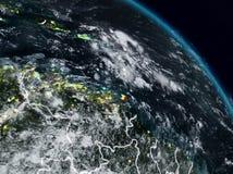 加勒比在晚上 库存例证