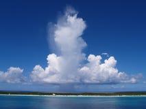 加勒比天空 库存图片