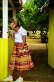 加勒比妇女在市场上 免版税图库摄影