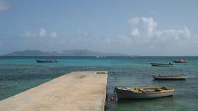 加勒比小船 免版税库存图片