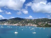加勒比小船 库存照片