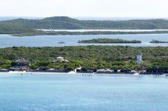 加勒比岛游人海滩 图库摄影