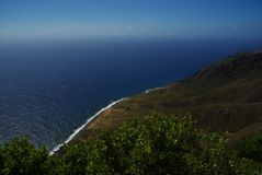 加勒比岛saba 库存照片