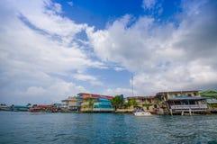 加勒比房子水 免版税库存图片
