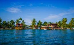 加勒比房子水 图库摄影