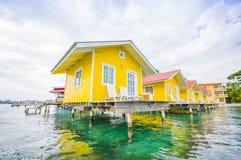 加勒比房子水 免版税库存照片