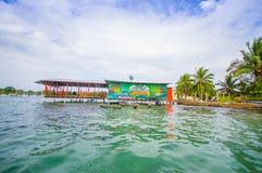 加勒比房子水 库存图片