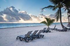 加勒比日出 库存图片