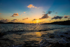 加勒比日落或日出 免版税库存图片