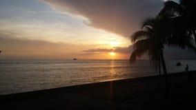 加勒比日落特立尼达 免版税库存图片