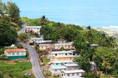 加勒比村庄 库存照片