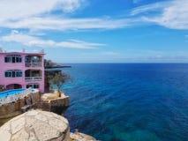 加勒比海和美丽的海滩在牙买加 库存照片
