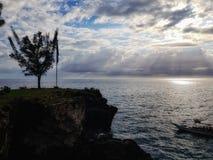 加勒比海和美丽的海滩在牙买加 免版税库存照片