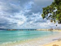 加勒比海和美丽的海滩在牙买加 库存图片