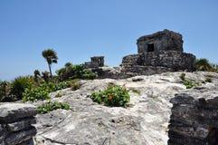 加勒比海岸tulum 免版税库存图片