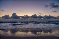 加勒比海日落 库存照片