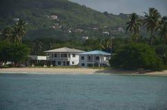 加勒比海滩别墅多巴哥岩礁 库存照片