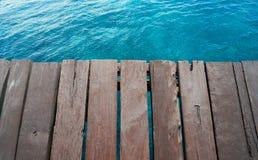 加勒比海滩木码头热带水色 图库摄影