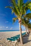加勒比海滩风景  免版税库存图片