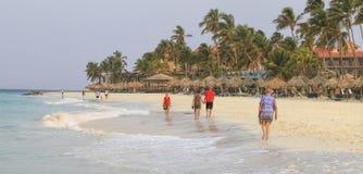 加勒比海的阿鲁巴 库存图片