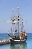 加勒比海盗船 库存照片