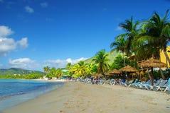 加勒比海滩圣托马斯, USVI 免版税库存照片
