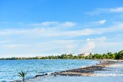加勒比海滩在伯利兹 免版税库存图片