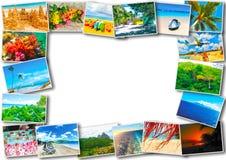 从加勒比海滩的看法的拼贴画 免版税图库摄影