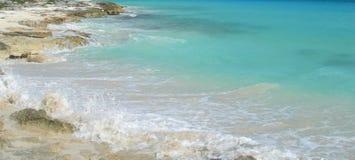 加勒比海滩背景 免版税库存照片