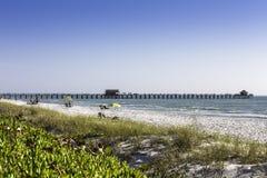 那不勒斯码头在那不勒斯,佛罗里达 库存图片