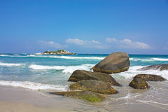 加勒比海 Tayrona国家公园 哥伦比亚 免版税库存图片
