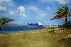 加勒比港口船 图库摄影