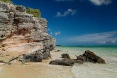 加勒比热带自然风景视图 免版税图库摄影