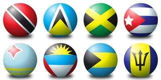 加勒比球 免版税图库摄影