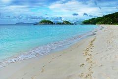 加勒比看法,圣约翰,美国维京群岛 免版税库存照片