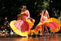 加勒比舞蹈演员 库存图片