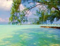 加勒比视图 免版税库存照片