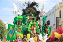 加勒比诺丁山狂欢节伦敦夏天 免版税图库摄影
