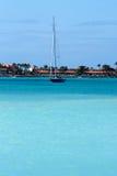 加勒比风帆船 库存图片