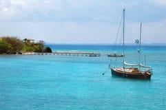 加勒比风船 库存图片