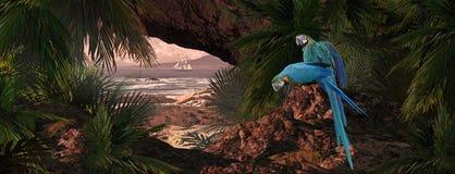 加勒比鹦鹉 免版税库存图片